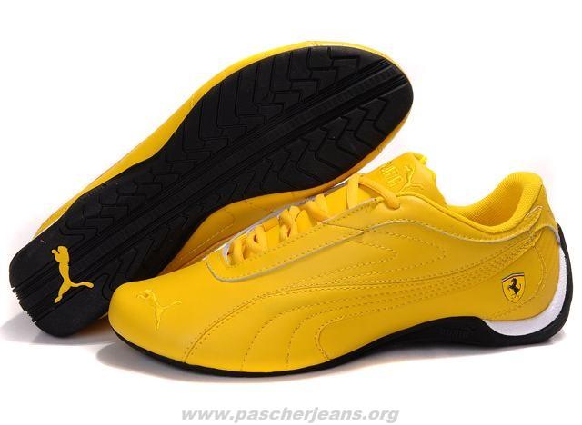 baskets puma jaune