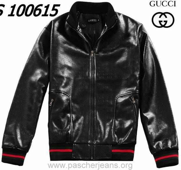 Veste gucci cuir noir