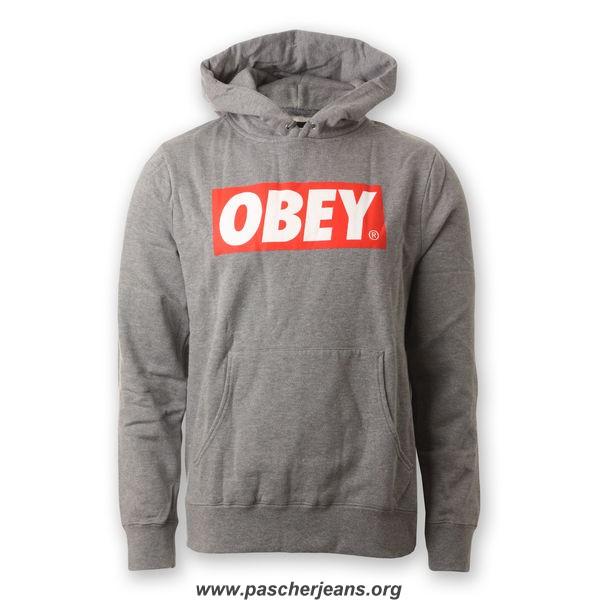 sweat obey gris,sweat obey homme,sweat obey