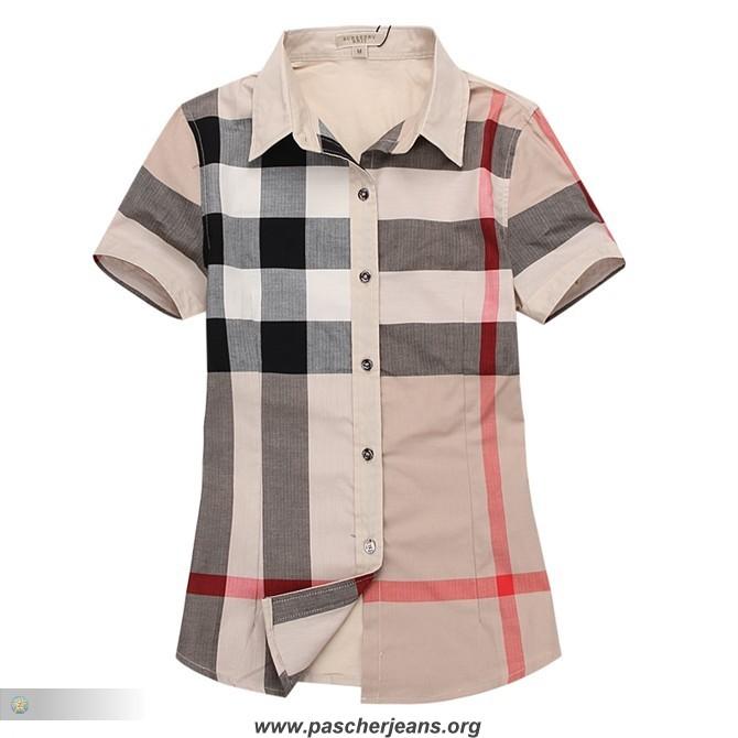 chemise en jean femme la redoute,chemise burberry femme manche courte 07634c98829