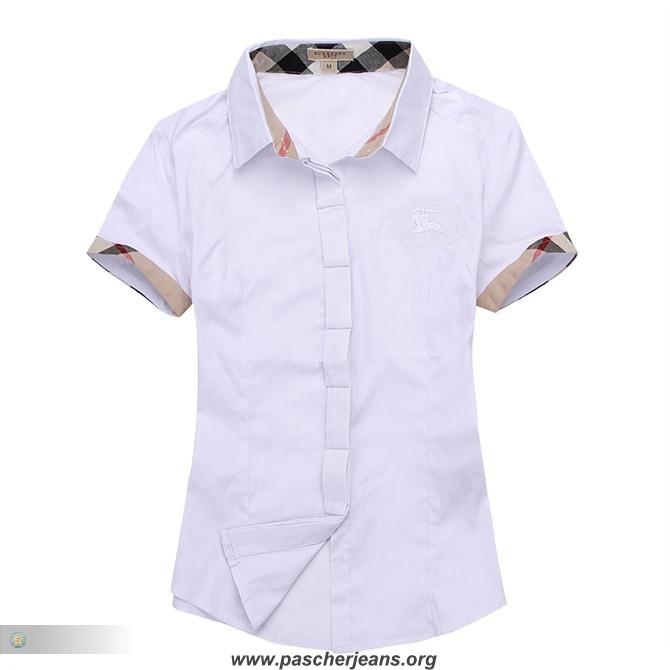 b96c1135310b chemise femme en lin blanc,chemise burberry femme manche courte
